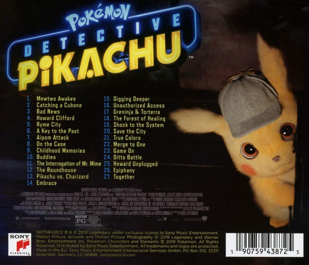 Pokémon Detective Pikachu - soundtrack CD (tył)