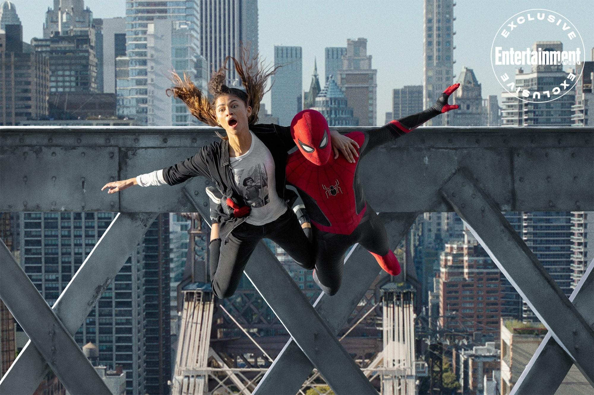 Spider-Mana Bez drogi do domu Zendaya jako MJ i Tom Holland jako Spider-Man