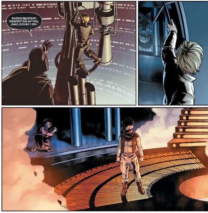 Plansza z komiksu Star Wars Ścieżka przeznaczenia Tom 1
