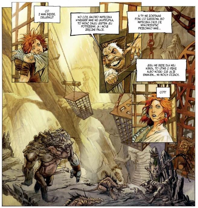 Plansza z komiksu Świat Dryftu Opowieść o złodziejach i trollach