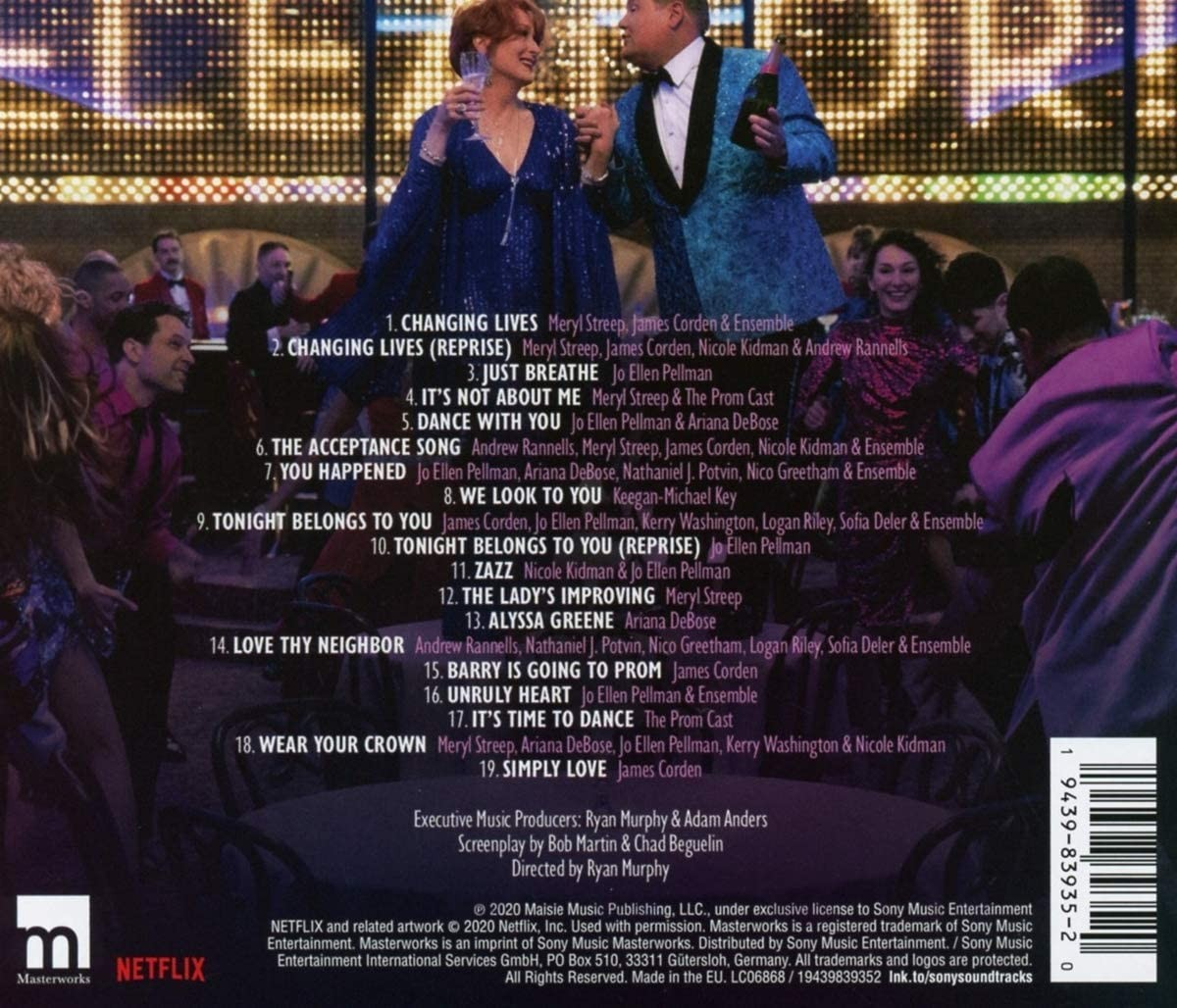 The Prom - okładka soundtracku CD (tył)