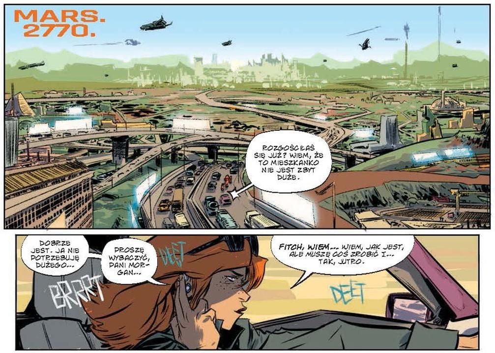 Plansza z komiksu The Weatherman tom 1