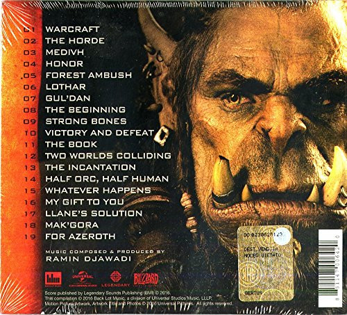 Warcraft - okładka soundtracku CD (tył)